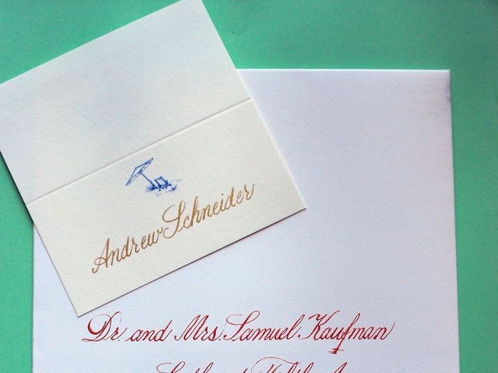 Tmx 1390047461512 Calligraphy1 Delray Beach wedding invitation