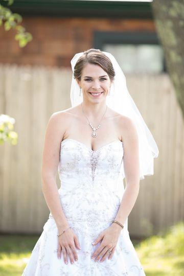 Soft romantic bridal look.