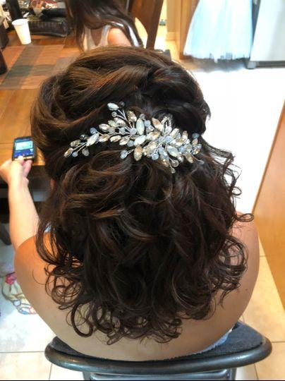 Chignon with curls