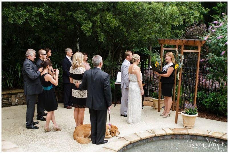 Intimate backyard ceremony from July 2013.