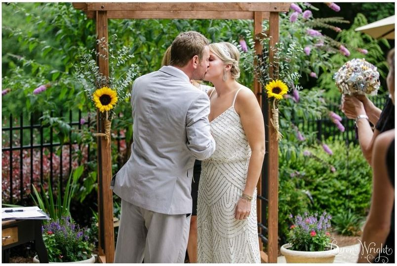 """You may kiss the bride!"""