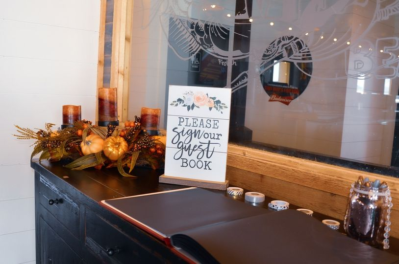 Sign book table