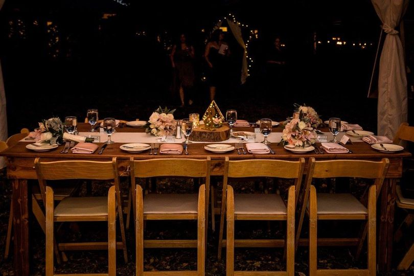 Intimate table setting