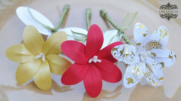 Holidays Paper Flowers Place Cards  From LMGdesigns Holidays Paper Flowers Place Cards zoom Holidays...