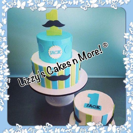 1st bday cake and smash cake