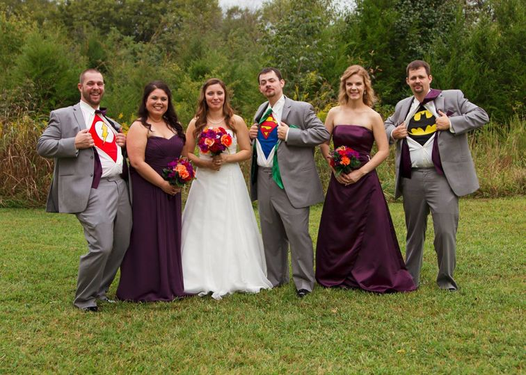 alford wedding super heros