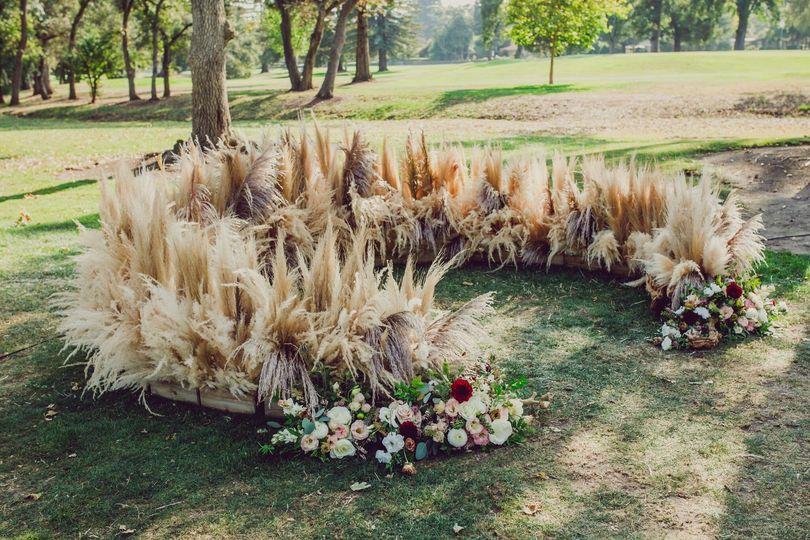 Ceremony floral altar