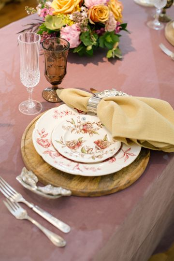 Elegant silver handled trays