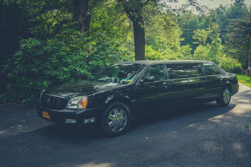 Black classic limousine