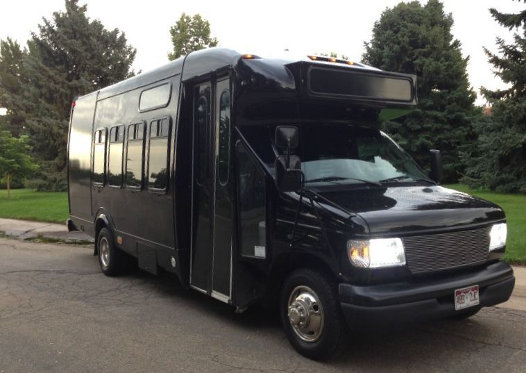 Black car limousine