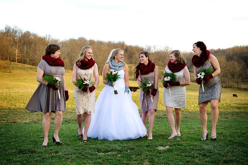 country wedding bridesmaids columbus ohio photogra