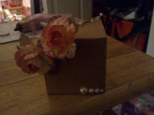 Simple and Sweet  Box Favor (other box colors and flower can be disgusted).