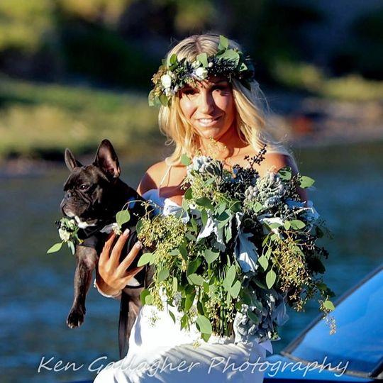 Beautifal Bride & her pup