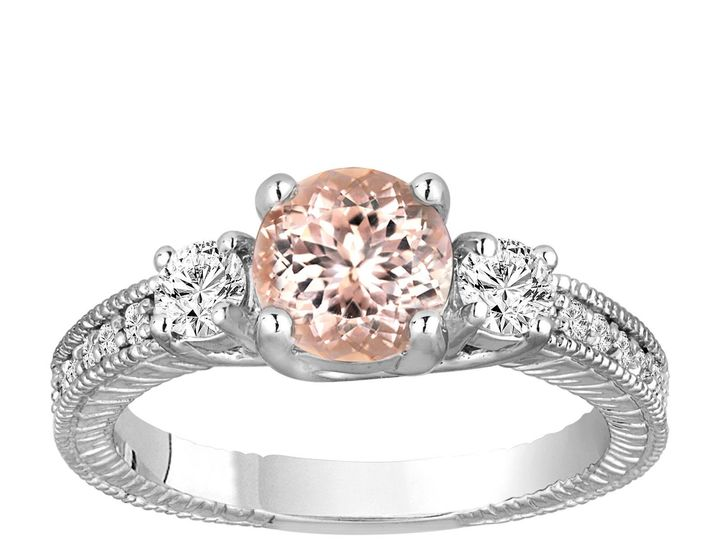 Tmx 1416163987145 Morganite Engagement Ring 14k White Gold  New York, NY wedding jewelry