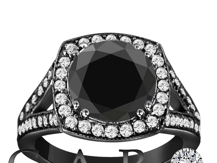Tmx 1429928237120 Huge Fancy Black Diamond Cocktail Ring 4.00 Carat  New York, NY wedding jewelry