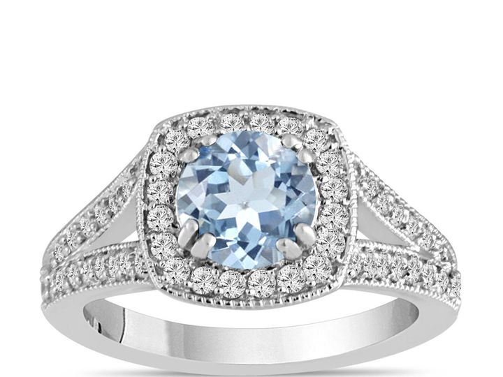 Tmx 1429928757162 Aquamarineengagementringaquamarineanddiamondengage New York, NY wedding jewelry
