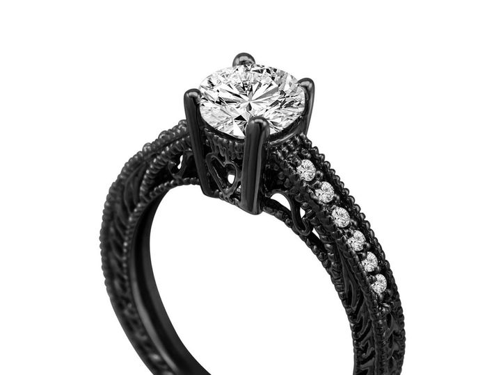 Tmx 1429928763801 Diamondengagementringblackgoldvintage50600.1426618 New York, NY wedding jewelry