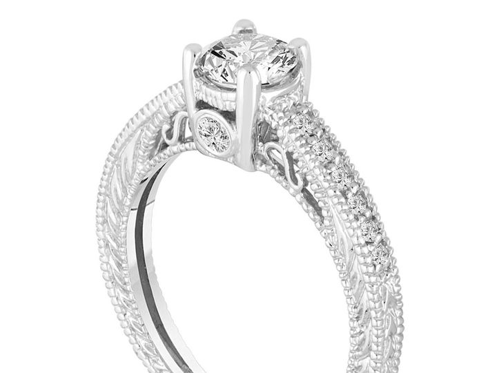 Tmx 1429928777652 Giacertifieddiamondengagementring0.76carat14kwhite New York, NY wedding jewelry