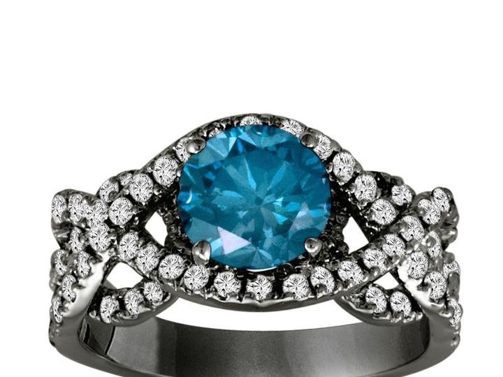 Tmx 1429928797314 Topandbottomtwoflooruniqueengagementring.verynicea New York, NY wedding jewelry
