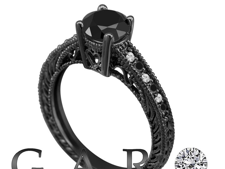 Tmx 1437840420291 Fancyblackdiamondengagementring14kblackgold1.17car New York, NY wedding jewelry
