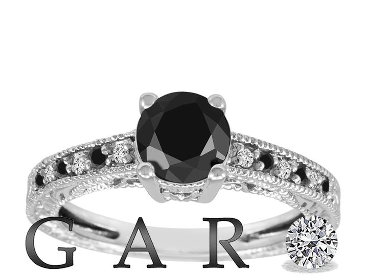 Tmx 1437840430403 Naturalblackdiamondengagementring14kwhitegold0.63c New York, NY wedding jewelry
