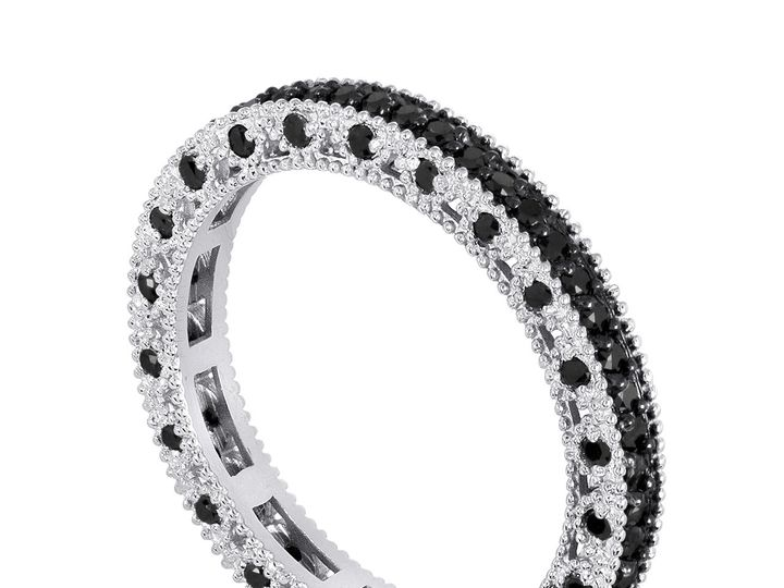 Tmx 1440983958623 Eternityfancyblackdiamondsweddingband14kwhitegold0 New York, NY wedding jewelry