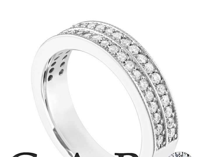 Tmx Two Row Diamond Wedding Ring Half Eternity Diamonds Wedding Band 4 Mm Anniversary Ring 14k White Gold 0 45 Carat Certified Handmade Unique 1 51 703931 New York, NY wedding jewelry