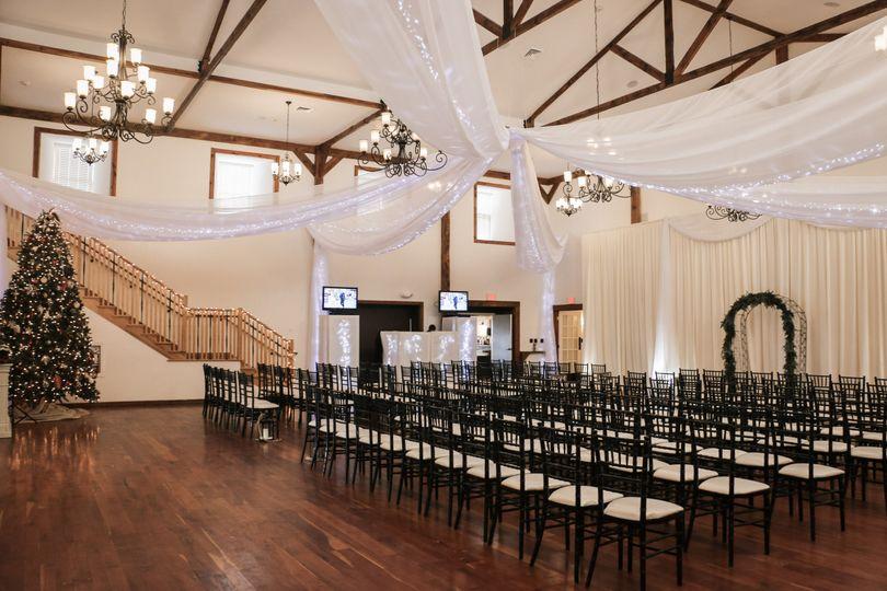 Elegant ceiling drapery