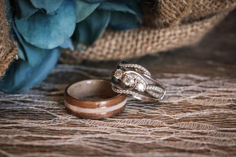 Wedding rings in detail