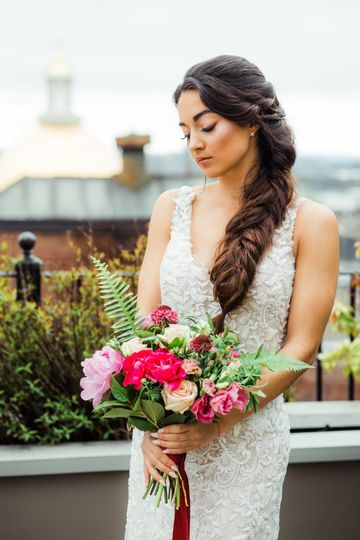 Rooftop bride!