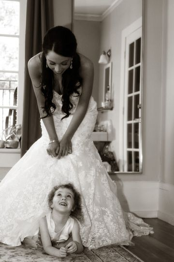 The bride with kid