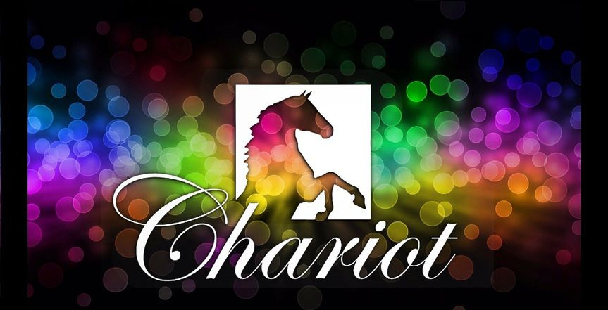 circles background with chariot logo