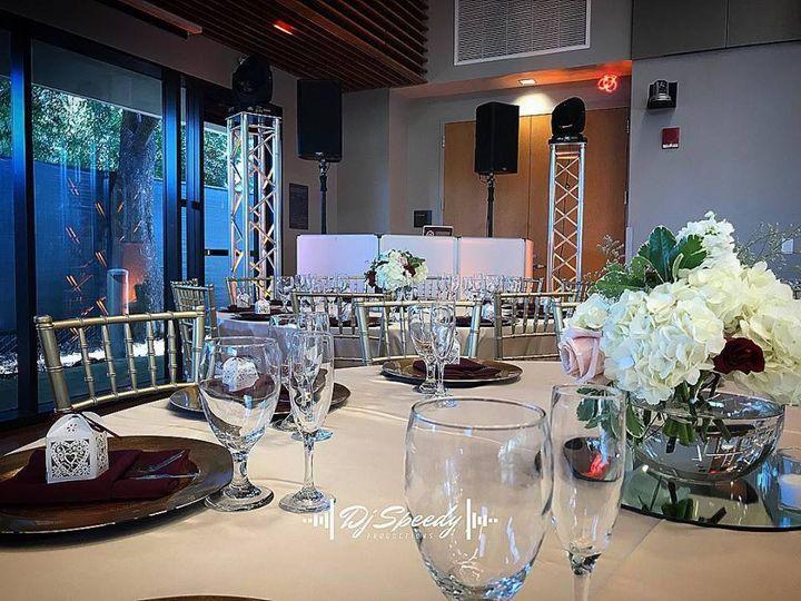 Wedding DJ's setup