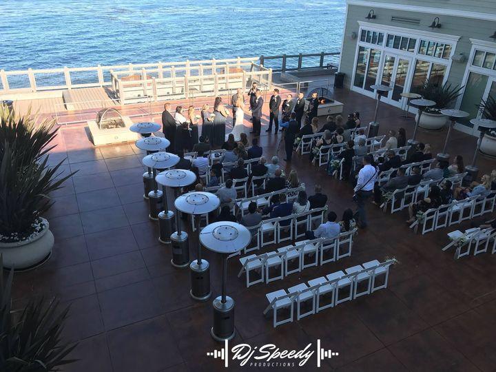 Wedding overlooking the sea