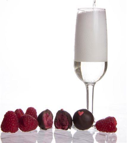 Stiletto Chocolate raspberry champagne truffles