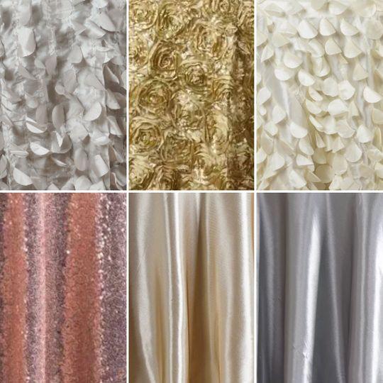 Texture, Sequence, Satin Table Cloths!!!!