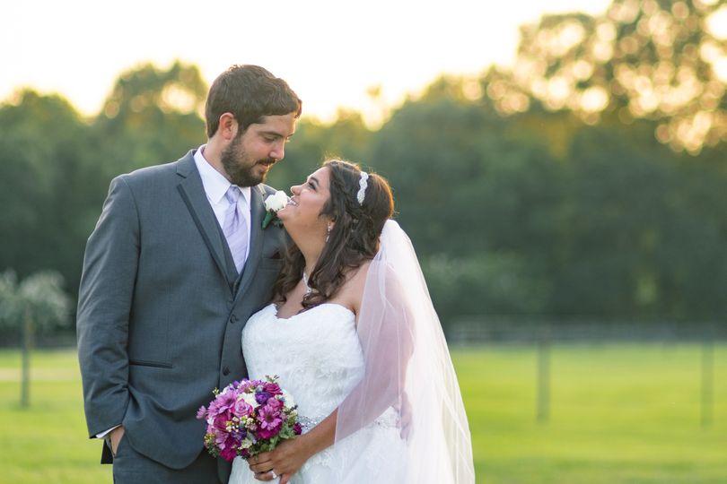 Harvey wedding couple