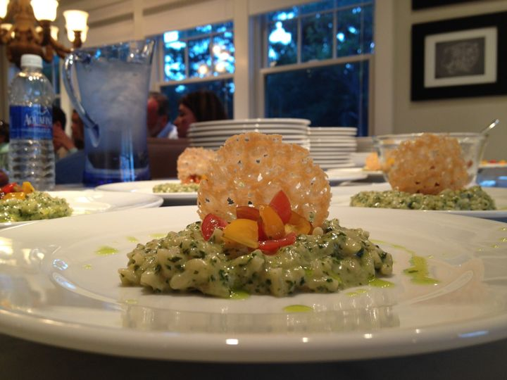Basil Risotto, cherry tomatoes