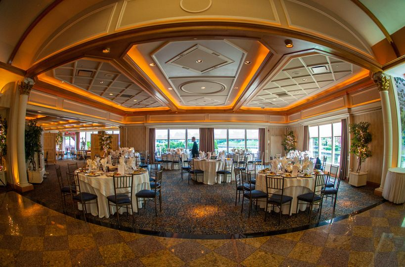 Fish eye view of the reception