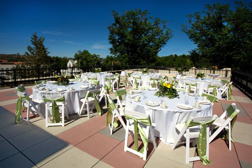 Reception on the rooftop patio