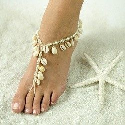 Real See Shells Barefoot Sandals, Foot Jewelry, Wedding Sandals, Made in all Colors, FREE SHIPPING.