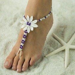 Tmx 1380235812161 Beautiful Barefoot Sandals Highres Single Flower Hesperia wedding jewelry