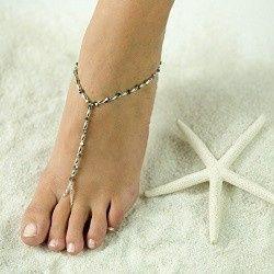Tmx 1380236545399 Beautiful Barefoot Sandals Highres Sexy Silver Hesperia wedding jewelry