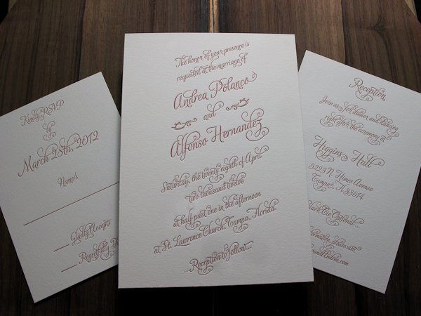 Tmx 1327733174978 SimplyLetterpressedWeddingWire1042 Irvine, California wedding invitation
