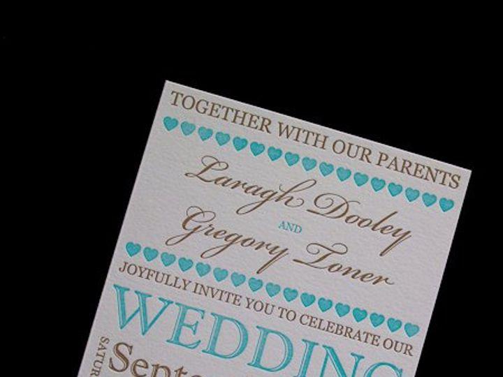 Tmx 1328682948129 LaraghLetterpressInvitation200 Irvine, California wedding invitation