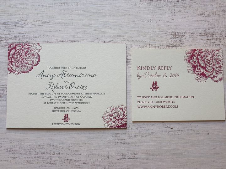 Tmx 1404863164341 Annyrobert 201 Irvine, California wedding invitation