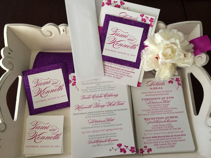 Tmx 1404863560338 Tamiken 104 Irvine, California wedding invitation