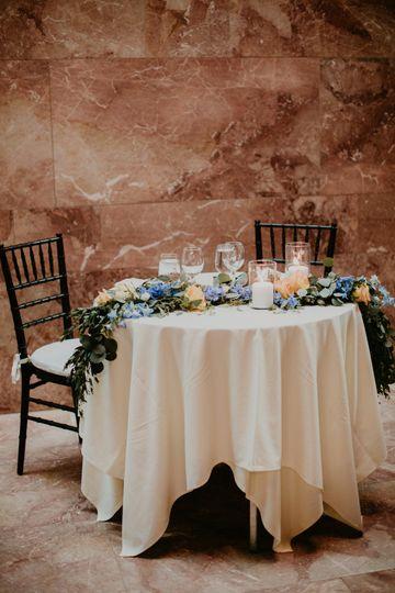 VMFA museum brides table