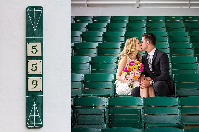wedding photographer tampa fl romantic bleachers