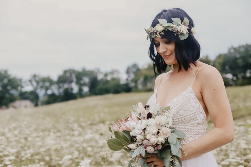 Bride holding a bouquet